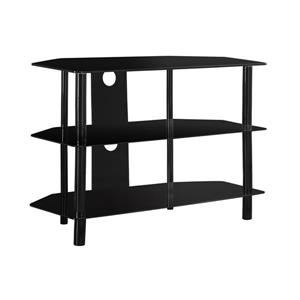 Monarch TV Stand - 35.75-in x 24-in - Metal - Black