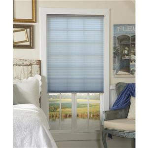 """allen + roth Light Filtering Pleated - 24.5"""" x 64"""" - Polyester - Gray"""
