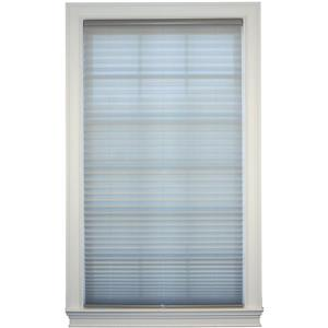 "allen + roth Light Filtering Pleated - 20.5"" x 64"" - Polyester - Gray"