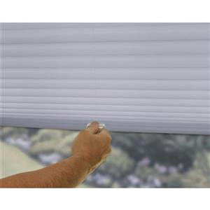 "allen + roth Light Filtering Pleated - 21.5"" x 48"" - Polyester - Gray"