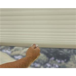 "allen + roth Light Filtering Pleated - 22.5"" x 72"" - Polyester - Ecru"
