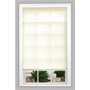 """allen + roth Light Filtering Pleated - 27.5"""" x 64"""" - Polyester - Ecru"""