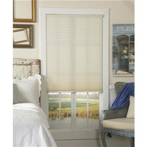 """allen + roth Light Filtering Pleated - 24"""" x 64"""" - Polyester - Ecru"""