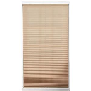 "allen + roth Light Filtering Pleated - 64"" x 72"" - Polyester - Camel"