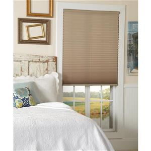 "allen + roth Light Filtering Pleated - 70"" x 64"" - Polyester - Camel"