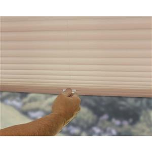 "allen + roth Light Filtering Pleated - 55.5"" x 64"" - Polyester - Camel"
