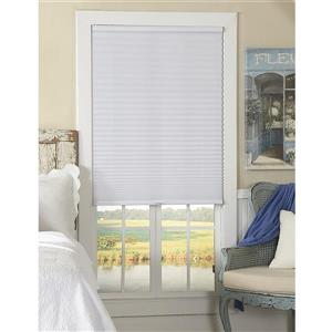 """allen + roth Light Filtering Shade - 20.5"""" x 64"""" - Polyester - White"""