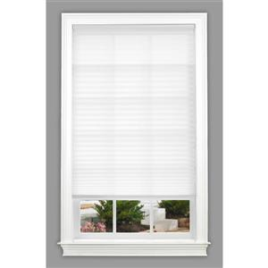 """allen + roth Light Filtering Shade - 20"""" x 64"""" - Polyester - White"""