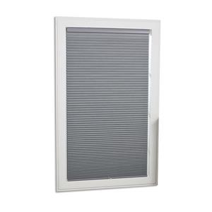 """allen + roth Blackout Cellular Shade - 28"""" x 64"""" - Polyester - Gray/White"""