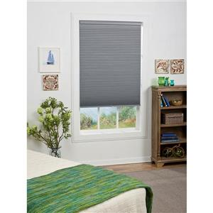 """allen + roth Blackout Cellular Shade - 25"""" x 64"""" - Polyester - Gray/White"""