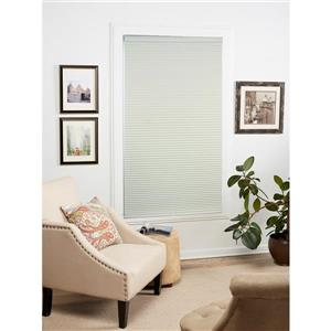 """allen + roth Blackout Cellular Shade- 57.5"""" x 72""""- Polyester- Creme/White"""