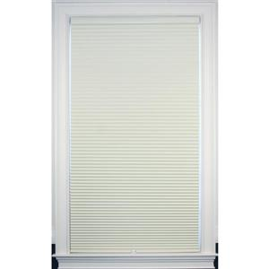 """allen + roth Blackout Cellular Shade- 67.5"""" x 64""""- Polyester- Creme/White"""