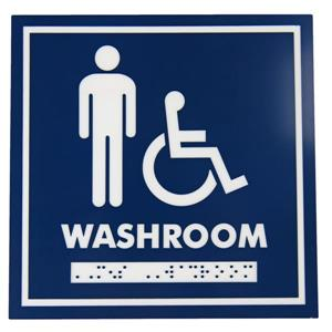 Frost Washroom Signage - Male/Wheelchair Accessible