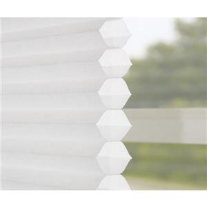 "allen + roth Light Filtering Cellular Shade - 55.5"" X 48"" - White"