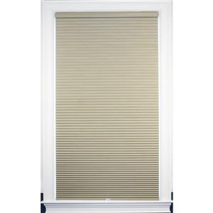 """allen + roth Blackout Cellular Shade- 62.5"""" x 72""""- Polyester - Sand-White"""