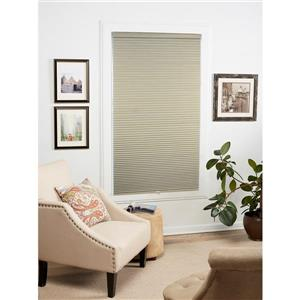 """allen + roth Blackout Cellular Shade- 21.5"""" x 64""""- Polyester - Sand-White"""