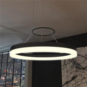 Vonn Lighting Tania Modern Circualr Integrated LED Pendant - Black - 24-in