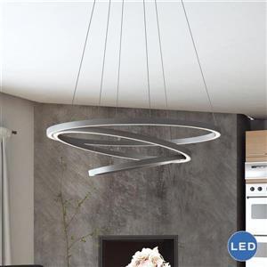 Vonn Lighting Tania LED Circular Chandelier - 32-in - Silver