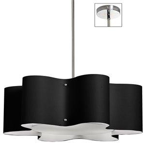 Dainolite Zulu Pendant Light - 3-Light - 24-in x 8.5-in - Black