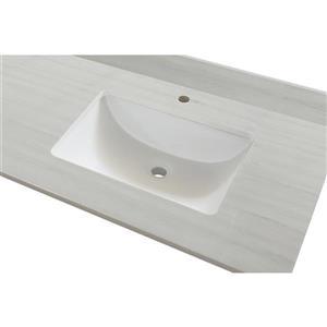 GEF Bathroom Vanity Countertop, 73-in  Solid-Surface