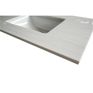GEF Bathroom Vanity Countertop, 25-in  Solid-Surface