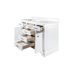 GEF Brielle Vanity with Solid Surface Top, 48-in White