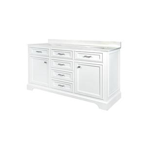 GEF Brielle Vanity with Solid Surface Top, 60-in White