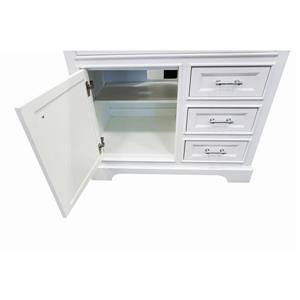 GEF Brielle Vanity with Solid Surface Top, 36-in White