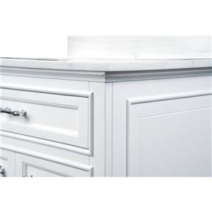 GEF Brielle Vanity with Solid Surface Top, 30-in White
