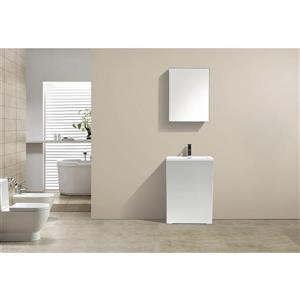 GEF Nina Pedestal Sink, 23-in white