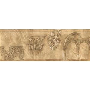 Norwall Vintage Victorian Wallpaper - Brown/Beige