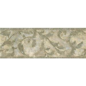 Norwall Faux Distressed Abstract Wallpaper - Green