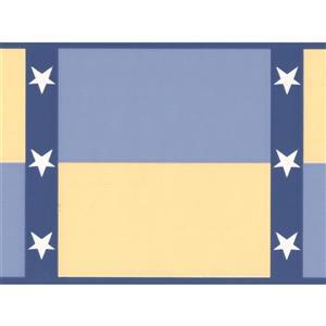York Wallcoverings Retro Stars Wallpaper Border - Multicoloured