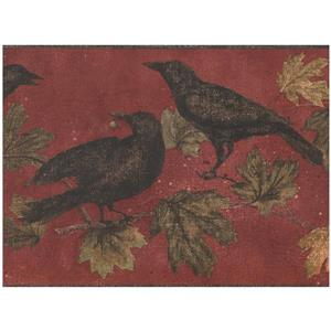 York Wallcoverings Black Birds on Branches Wallpaper