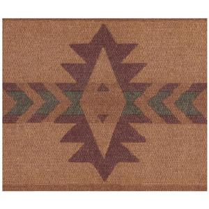 York Wallcoverings Abstract Faux Southwestern Wallpaper - Brown/Maroon