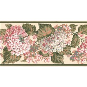 York Wallcoverings Hydrangea and Hortensia Floral Wallpaper - Pink