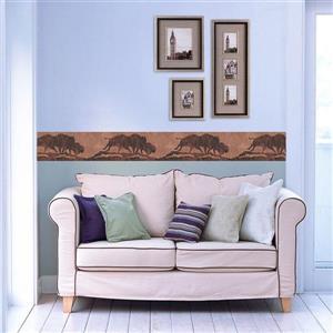York Wallcoverings Buffalo Silhouette Sepia Wallpaper - Brown