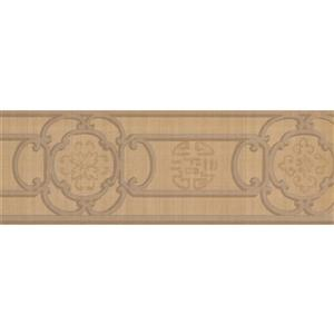 York Wallcoverings Trellis Wallpaper Border Retro - Brown
