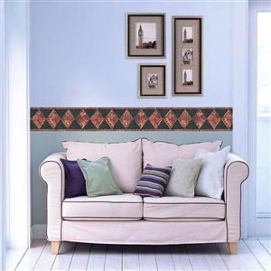 Retro Art Rhombus Southwestern Wallpaper - Green