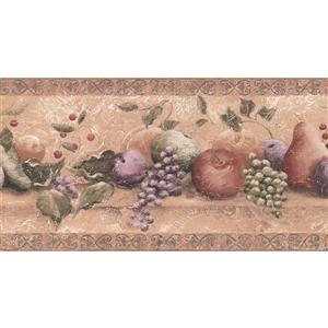 York Wallcoverings Fruit Distressed Wallpaper