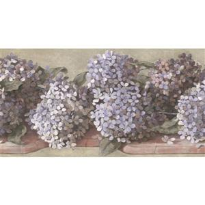 York Wallcoverings Hydrangea and Hortensia Floral Wallpaper - Lavender/White