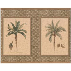 York Wallcoverings Palm Coconut Trees Wallpaper - Beige/Green