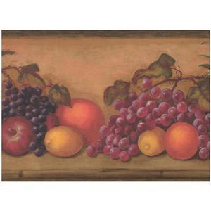 York Wallcoverings Fruit Wallpaper - Multicoloured