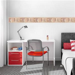 Retro Art Letters on the Wall Distressed Wallpaper