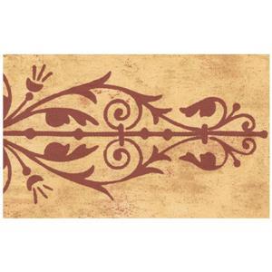 Norwall Trellis Wallpaper Border - Brown/Orange