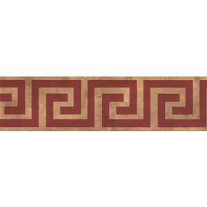 Norwall Abstract Square and Spiral Wallpaper - Brown