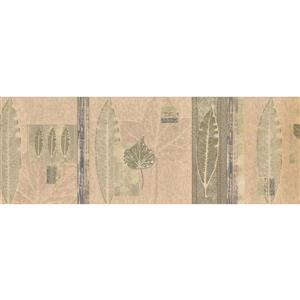 Norwall Abstract Leaves Wallpaper Border - Green