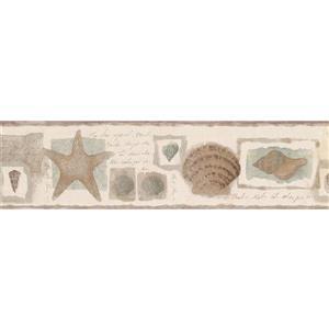 Norwall Starfish and Seashells Abstract Wallpaper Border