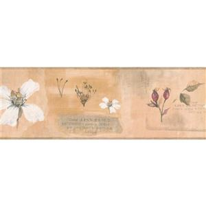 York Wallcoverings Retro Flowers and Hibiscus Floral Wallpaper Border