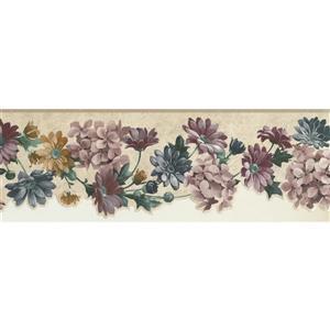 Norwall Floral Wallpaper Border - Multicoloured
